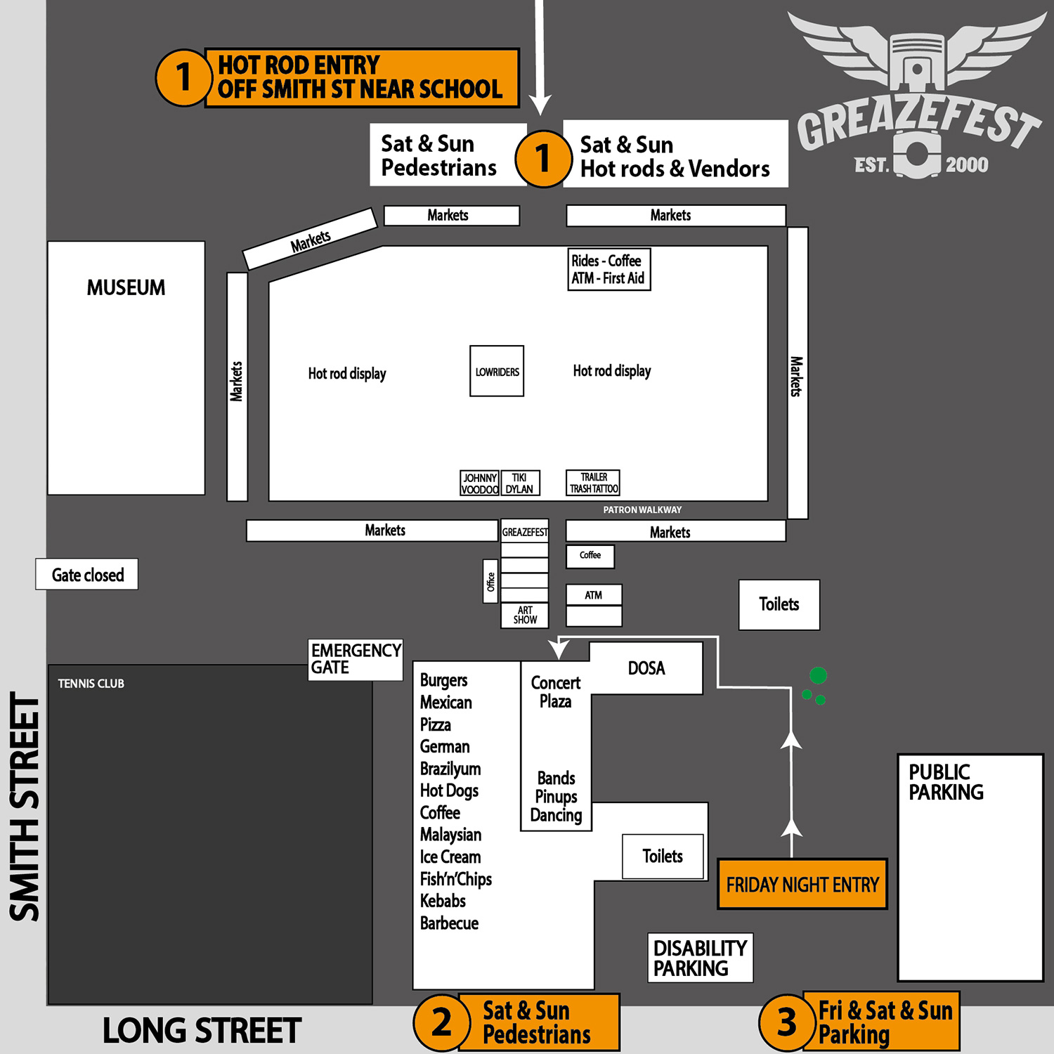 GreazeFest 2021 Site Map