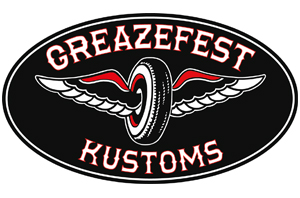 GreazeFest Kustoms Winged Wheel sticker